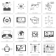 Black And White VR Icons - GraphicRiver Item for Sale