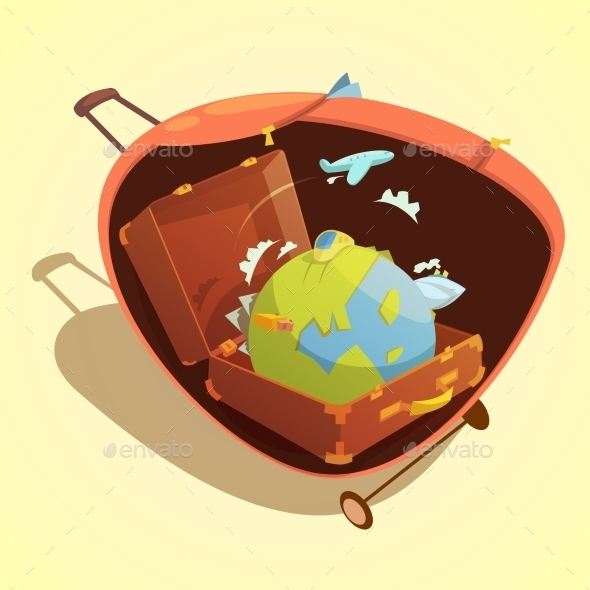 Travel Cartoon Concept  - Travel Conceptual