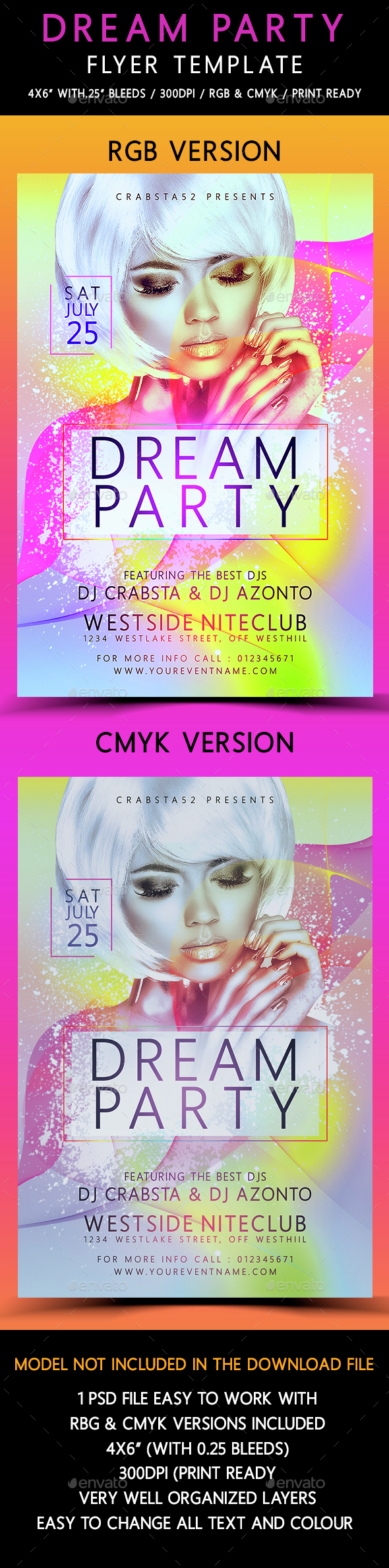 Dream Party Flyer Template  - Flyers Print Templates