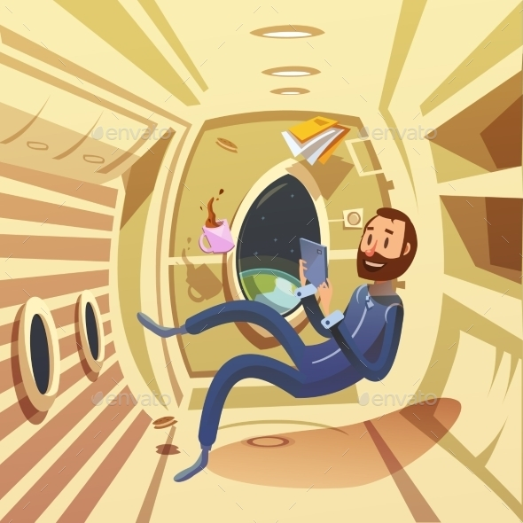 Spaceship Interior Illustration  - Travel Conceptual