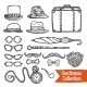 Gentelman Vintage Accessories Doodle Black Set - GraphicRiver Item for Sale