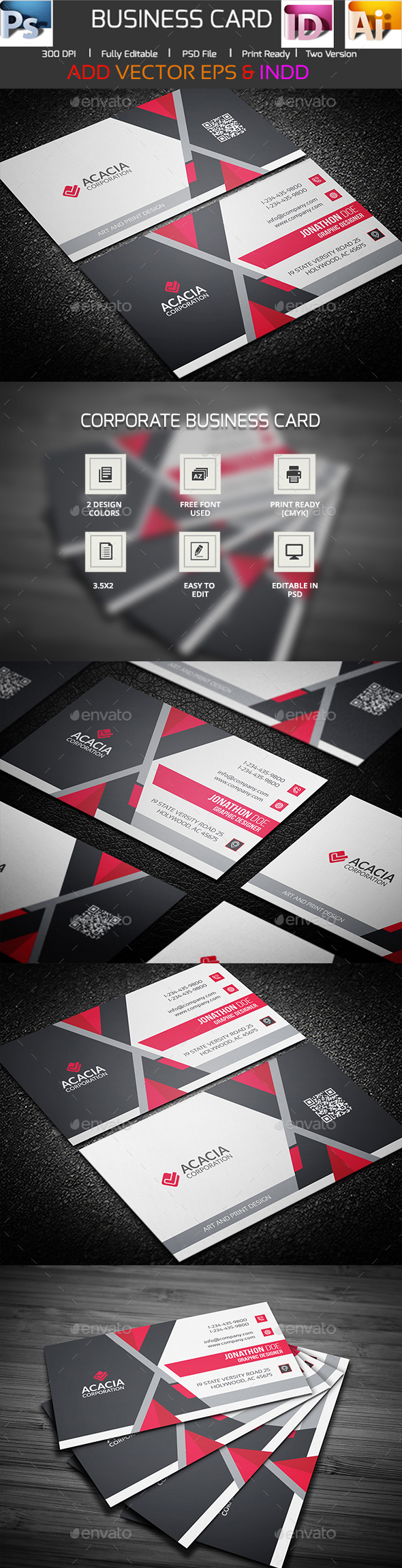 Trasia Business Card  - Corporate Business Cards