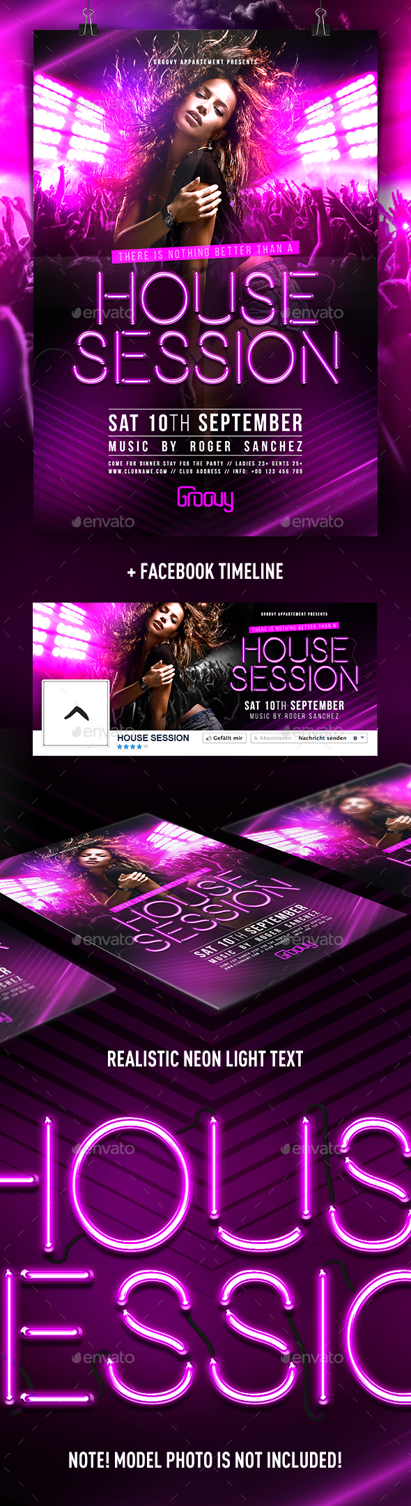 House Session Flyer - Clubs & Parties Events