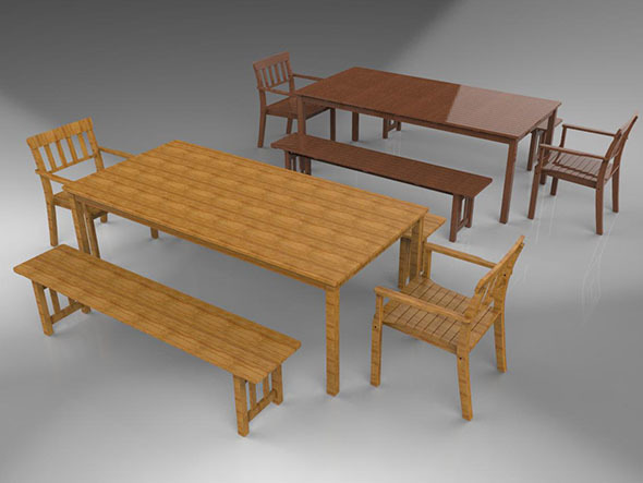 Benches and Chairs - 3DOcean Item for Sale