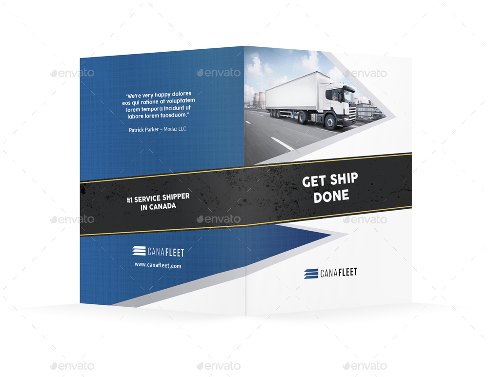 transportation company bifold    halffold brochure by mike