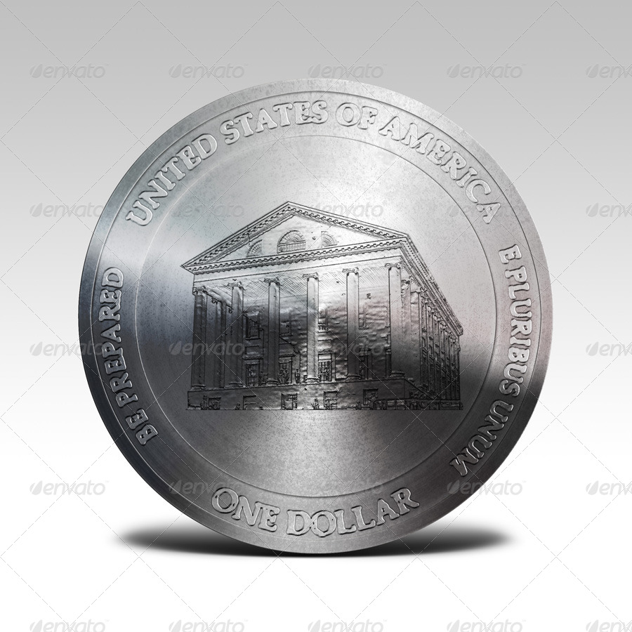 photorealistic coin mock up by pvillage graphicriver. Black Bedroom Furniture Sets. Home Design Ideas