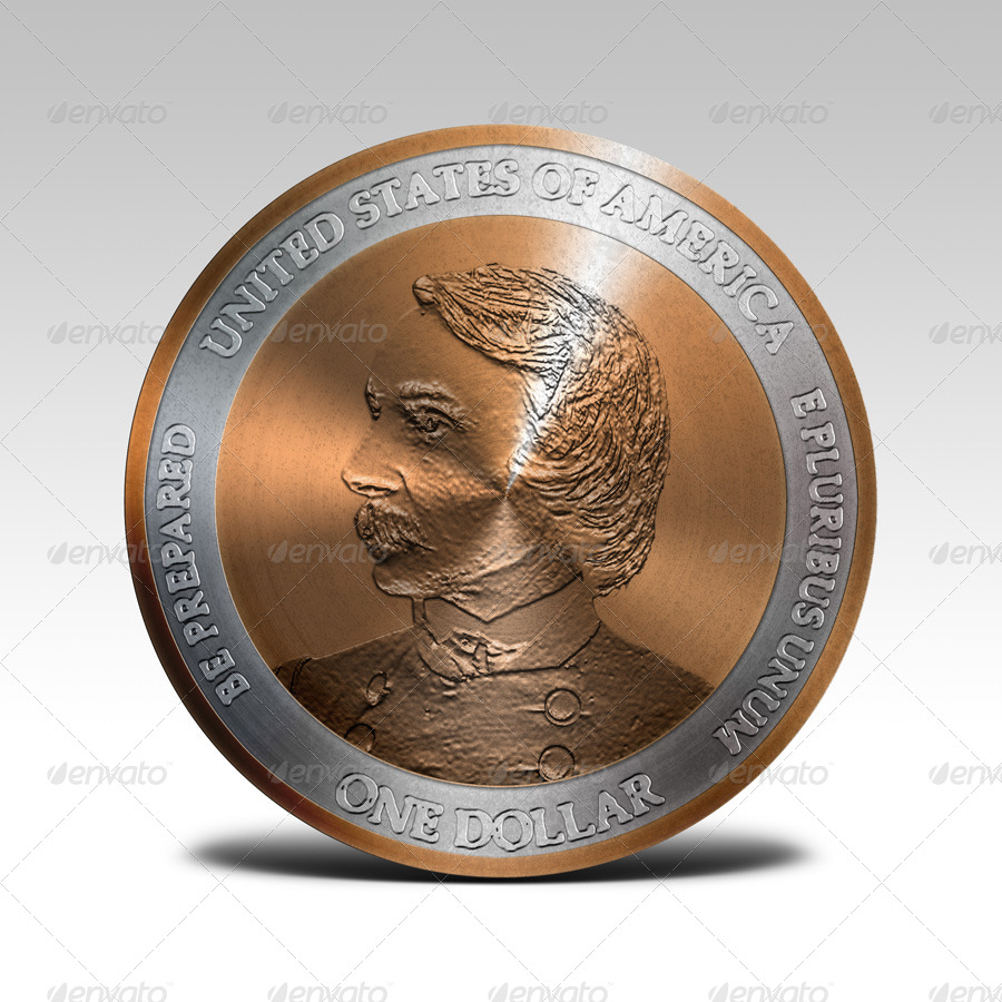 Photorealistic coin mock up by pvillage graphicriver for Envato graphicriver