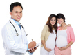 medical doctor with pregnant woman