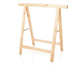 Sawhorse, DIY wooden tool on white, clipping path - PhotoDune Item for Sale