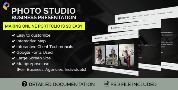 GWD Photo Studio Business Presentation 002 - CodeCanyon Item for Sale