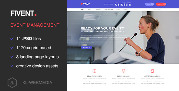 Fivent – Conference & Event PSD Template