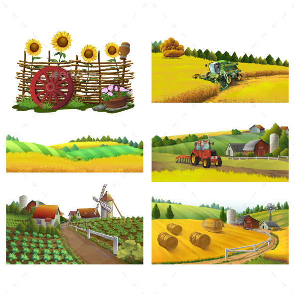 Farm Rural Landscape - Landscapes Nature