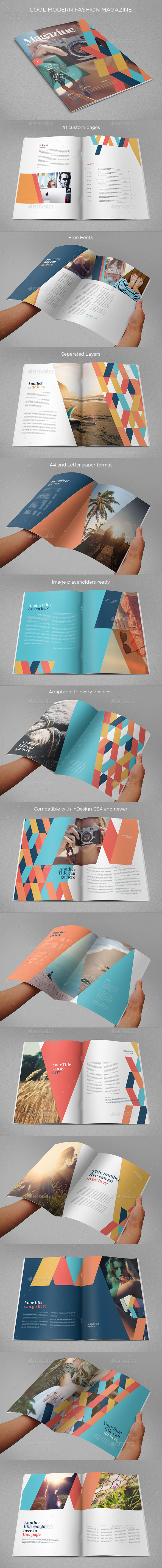 Cool Modern Fashion Magazine - Magazines Print Templates