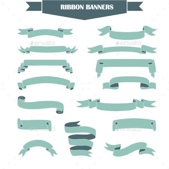 Ribbon Banner Set - Decorative Symbols Decorative