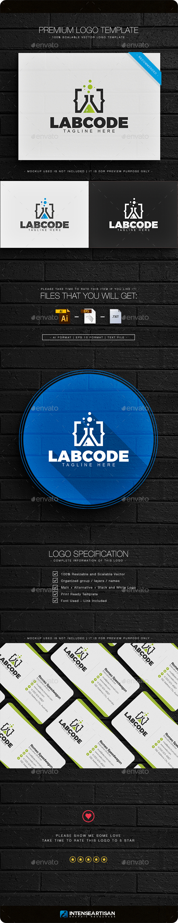 Lab Code Logo - Objects Logo Templates