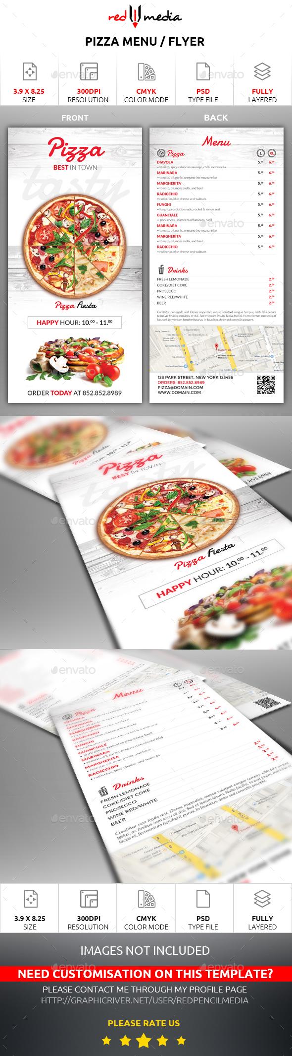 Pizza Menu / Flyer - Restaurant Flyers