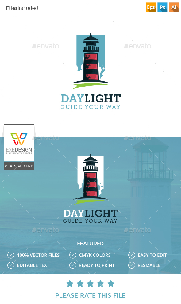Lighthouse Logo - Buildings Logo Templates