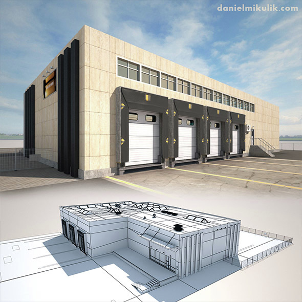 Cargo Building TIR Low Poly2 - 3DOcean Item for Sale