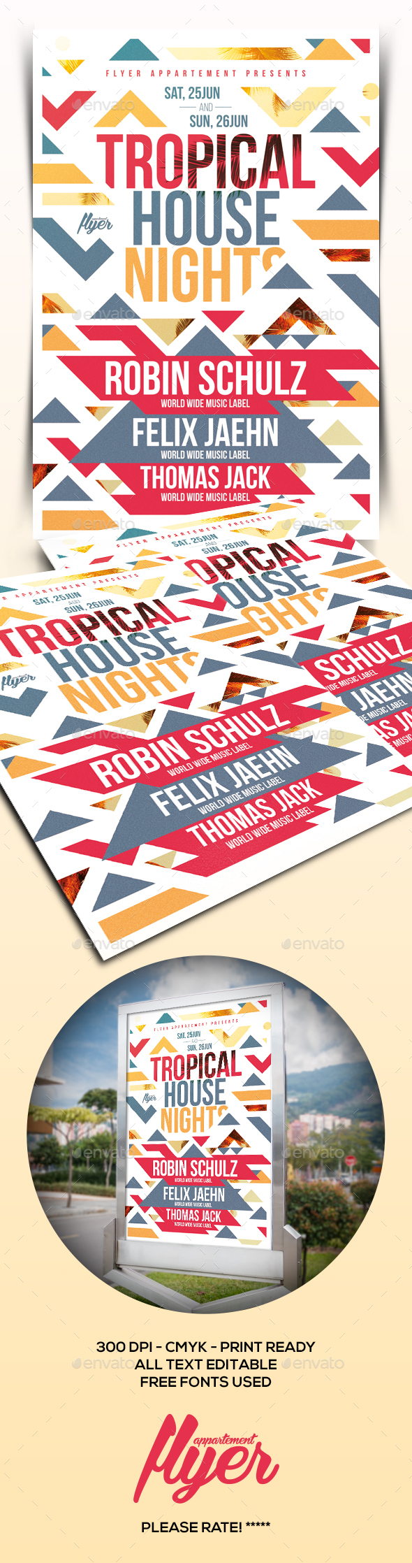 Tropical House Nights Flyer - Clubs & Parties Events