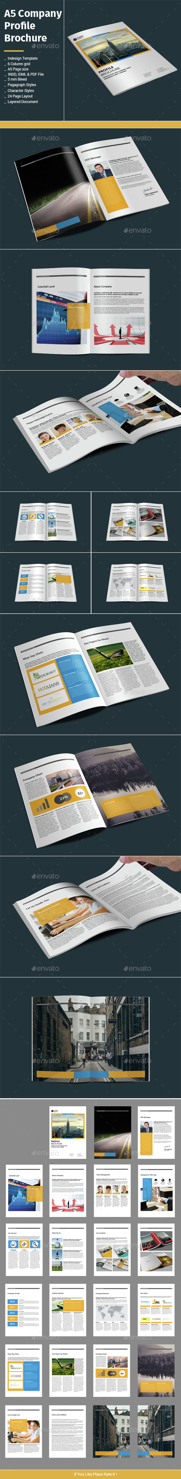 A5 Company Profile Brochure - Corporate Brochures