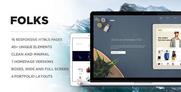 Folks - Creative HTML Template - Portfolio Creative