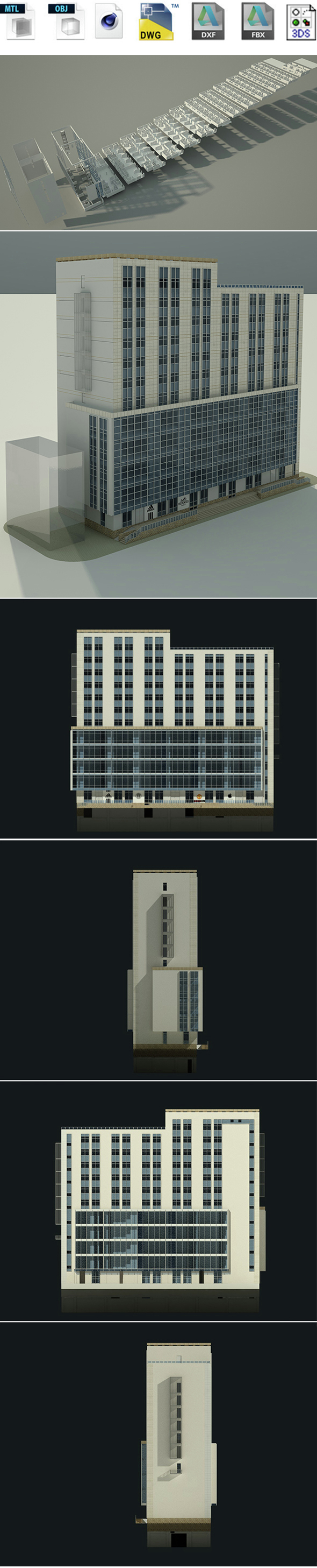 HOTEL BUILDING , INTERIOR, EXTERIOR - 3DOcean Item for Sale
