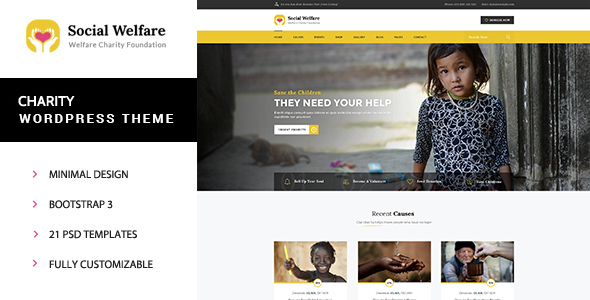Social Welfare - Charity Wordpress Theme - Charity Nonprofit