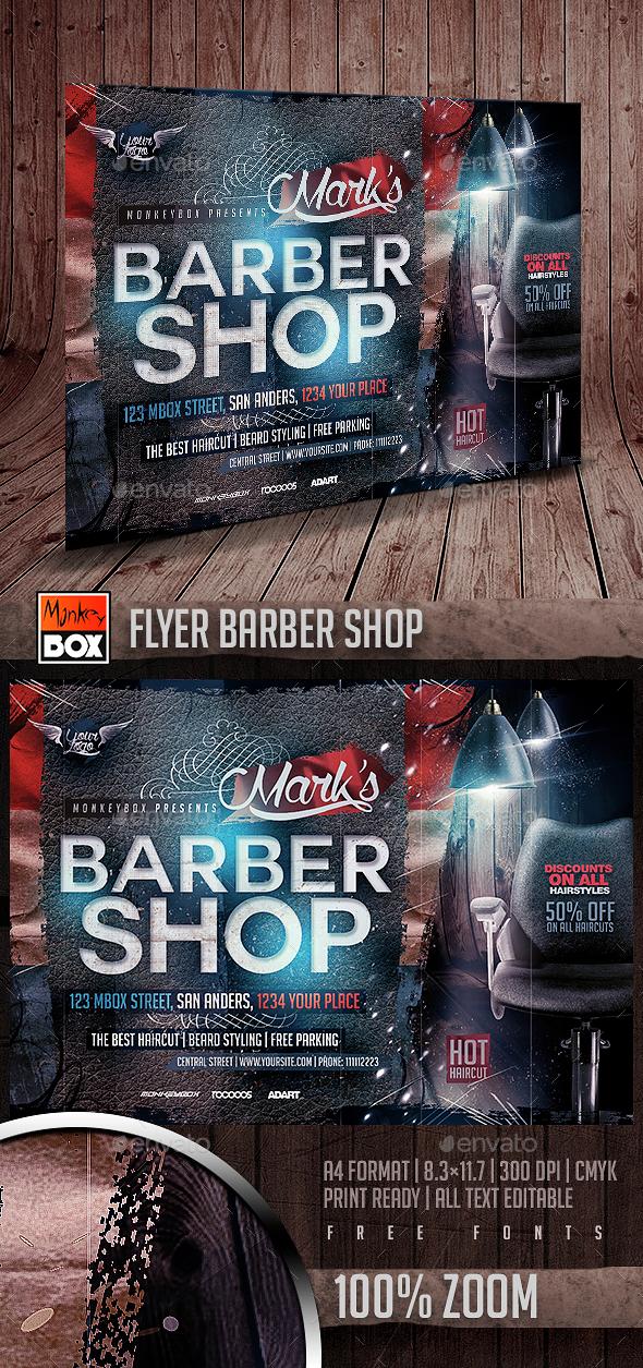 Flyer Barber Shop - Commerce Flyers