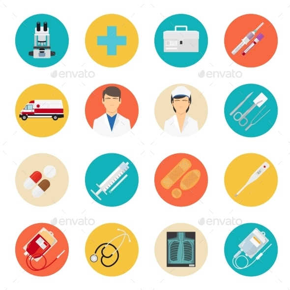 Medical Tools and Health Care Icons - Health/Medicine Conceptual