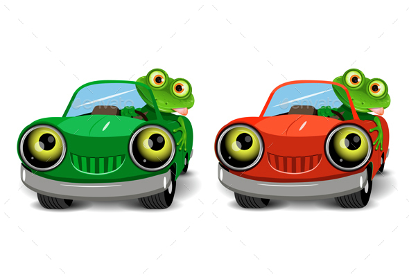 Frog in the Car - Animals Characters