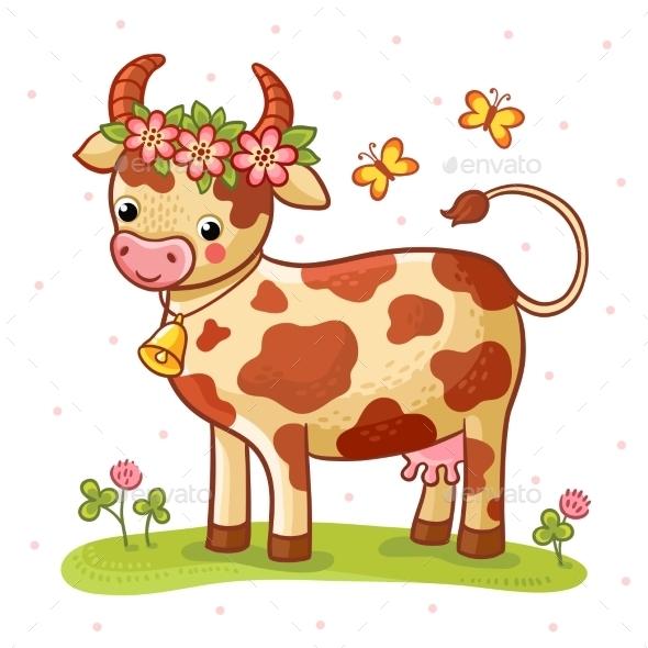 Cartoon Cow - Animals Characters