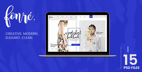 Fonre - Creative & Modern Online Shop PSD Template - Fashion Retail