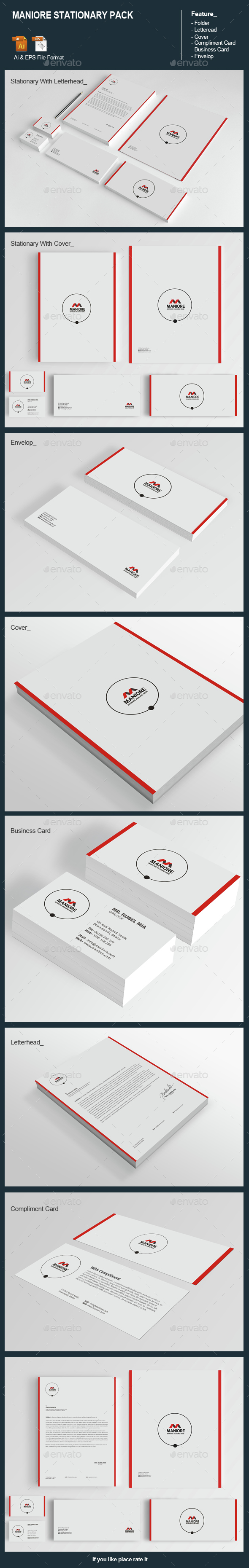 Maniore Stationary Pack - Stationery Print Templates