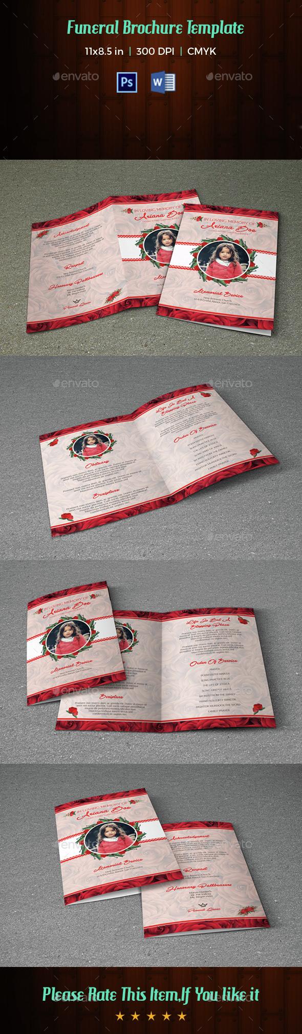 Child Funeral Program Template-V046 - Informational Brochures