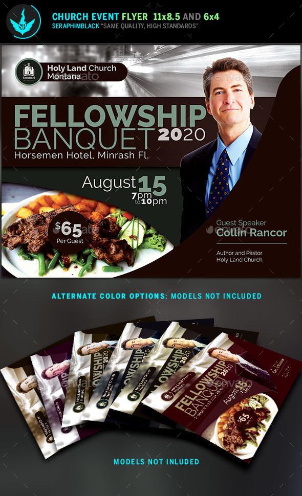 Fellowship Banquet Flyer Template - Church Flyers