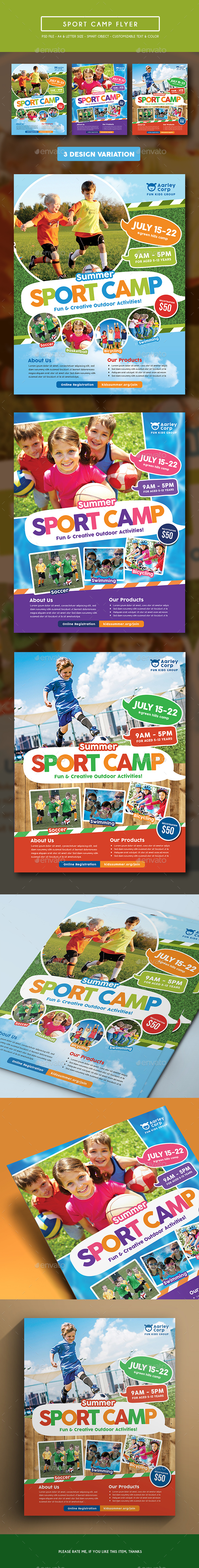 Sport Camp Flyer - Corporate Flyers