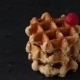 Belgian Waffles With Raspberries And Sugar Powder Over Rusty Surface - VideoHive Item for Sale