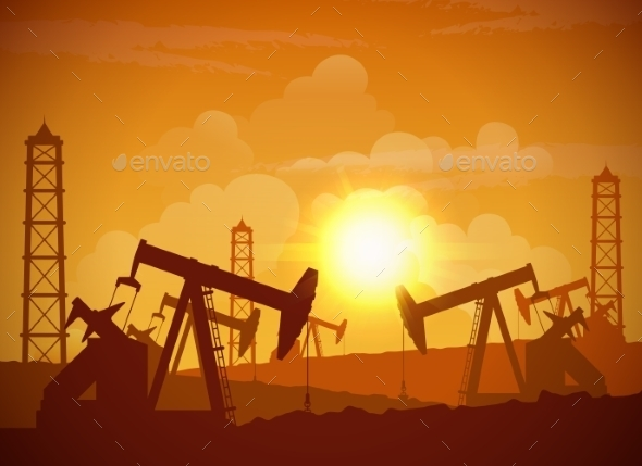 Oil Field Poster - Industries Business