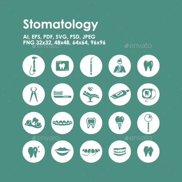 20 Stomatology Icons - Objects Icons