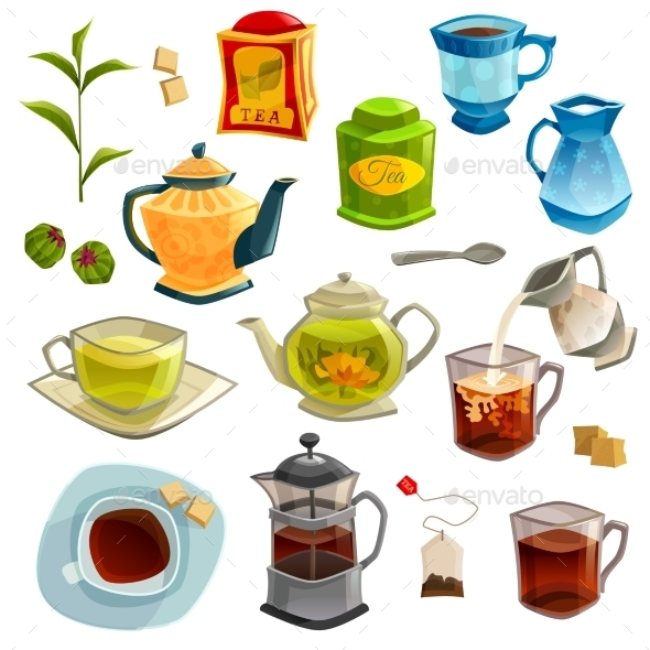 Types of Tea Set - Food Objects