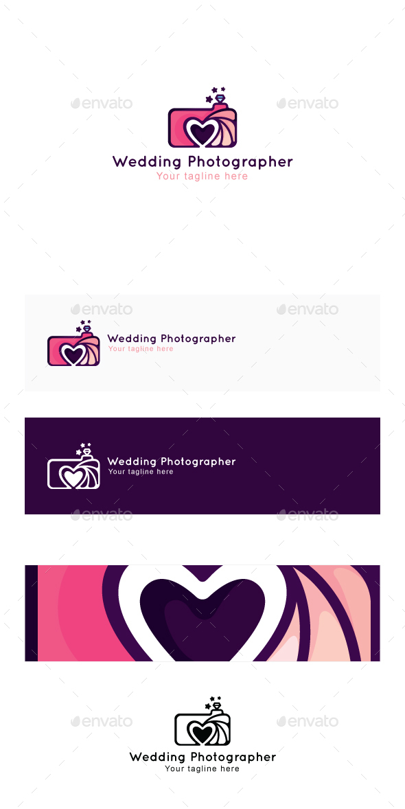 Wedding Photographer - Creative Abstract Stock Logo Template for Photo Studio - Abstract Logo Templates