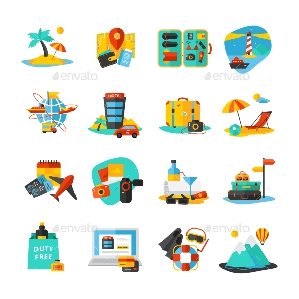 Travel Icon Set - Travel Conceptual