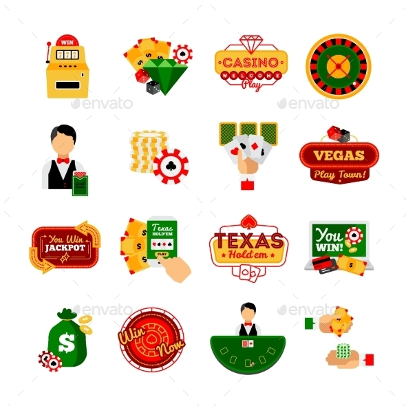 Casino Decorative Icon  Set - Miscellaneous Vectors