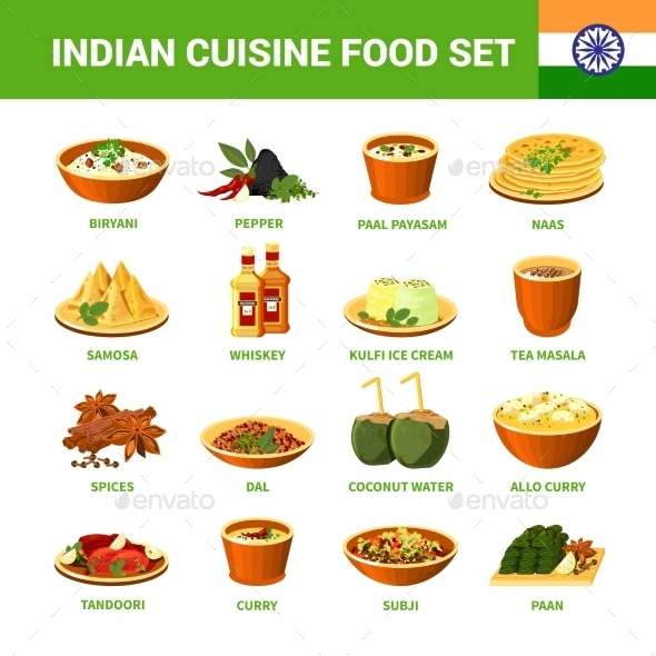 Indian Cuisine Food Set  - Food Objects