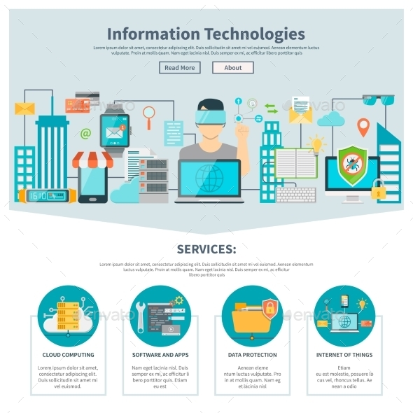 Information Technologies One Page Website - Web Technology