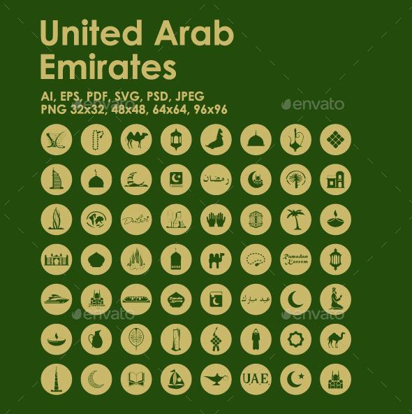 56 United Arab Emirates icons - Objects Icons