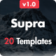 Supra - Pack of 20 Templates + Online Template Builder Nulled