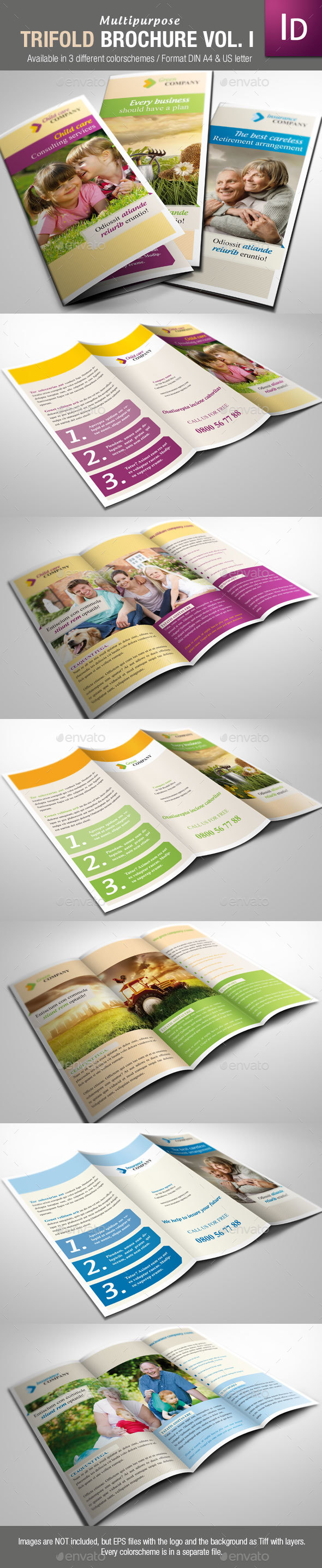 Multipurpose Trifold Brochure Vol. I - Corporate Brochures