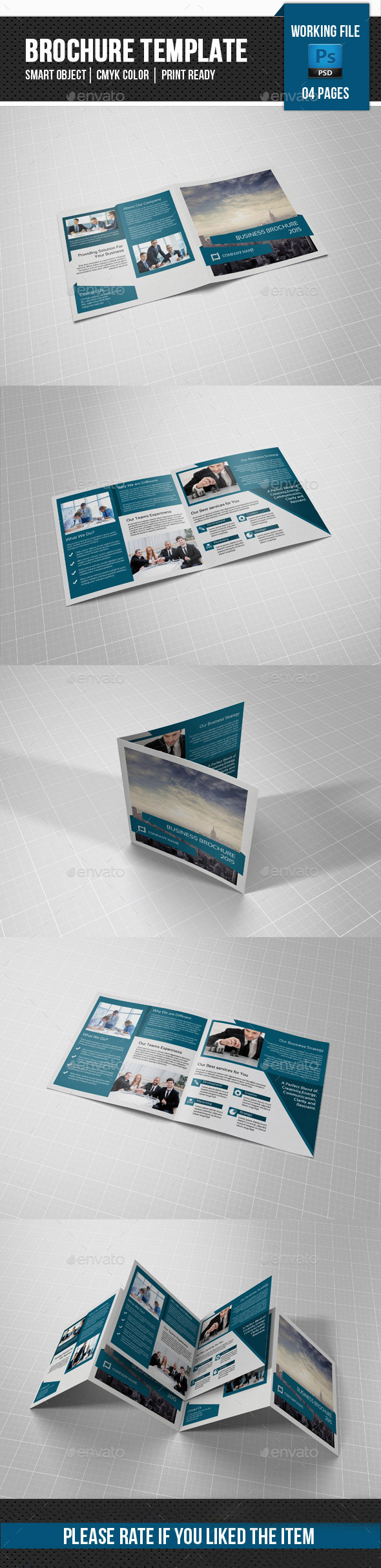Corporate Square Bifold Brochure-V81 - Corporate Brochures
