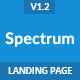 Spectrum - Responsive Landing Page Template - ThemeForest Item for Sale
